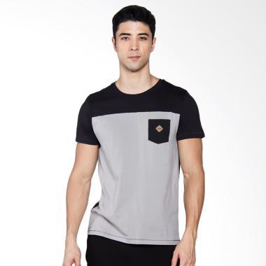 3SECOND 0804 T-shirt Pria - Blue [108041712]