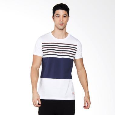 3SECOND 3304 T-shirt Pria - White [133041712]