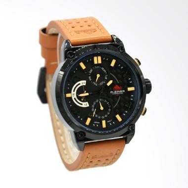 D-Ziner Jam Tangan Pria - Coklat Plat Hitam DZ-9001MB