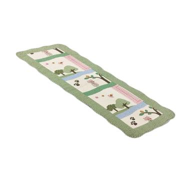 Vintage Story Shabby Quilting Table Runner - Green [50 x 135 cm]