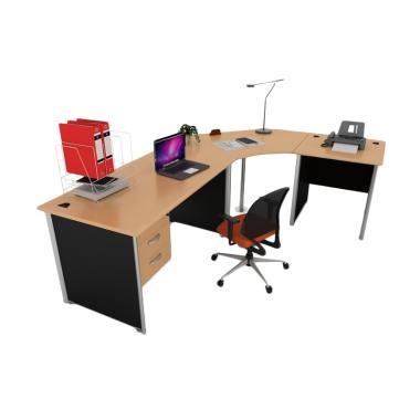 Ivaro Modera Satu Set Full E-Class-1 Meja Kantor (Knock Down)