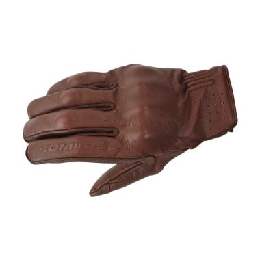 KOMINE GK-179 CE Protector Leather Gloves Sarung Tangan Motor - Brown