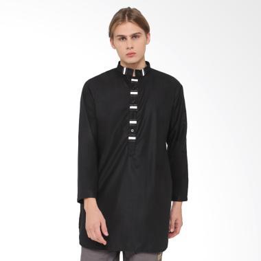 Zayidan Baju Muslim Gamis Ihsan - Hitam