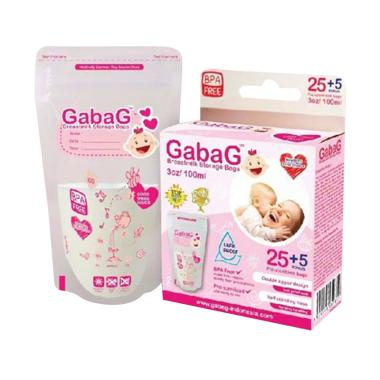 Gabag Breast Milk Bag Kantong ASI - Pink [100 mL]