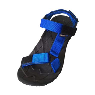 Suzuran Slop Sandal Gunung Unisex - Black with Blue [MR1]