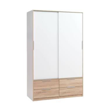 JYSK Kjellerup Wardrobe Sliding Doo ... u - White [121x60x200 cm]