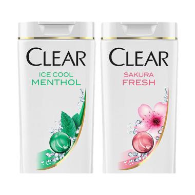 CLEAR Paket Hemat Shampoo Anti Keto ... i Ketombe Sakura [340 mL]