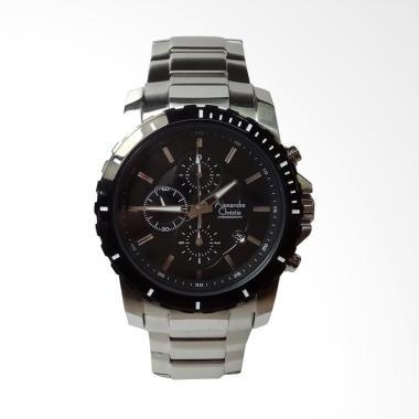Alexandre Christie Chronograph  Jam ... a - Silver Black AC6141MC