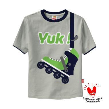 Hoofla HT 28 Kids Distro T-shirt Anak - Abu