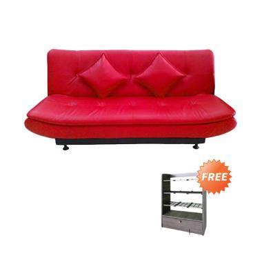Creova Anyola Sofabed - Merah + Free Rak Sepatu