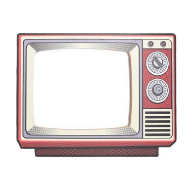 BiruTua Classic Tv Mirror Dekorasi Dinding