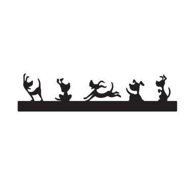 SKUGGA Doggy Single Module Lampu Dinding - Black