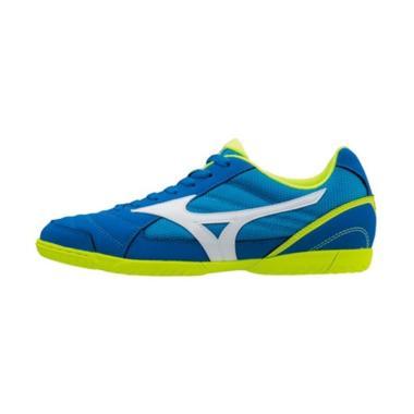 Mizuno Sala Club 2 Sepatu Futsal Pria - Blue Yellow [Q1GA175127]