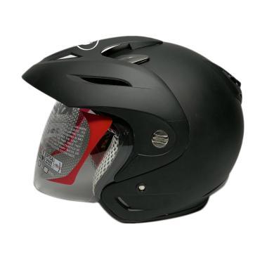 harga KYT Romeo Solid Helm Half Face - Black Doff Blibli.com