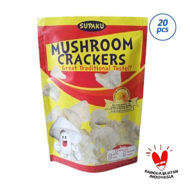 Supaku Mushroom Crackers Kerupuk Jamur Mix 5 rasa [20 pcs]