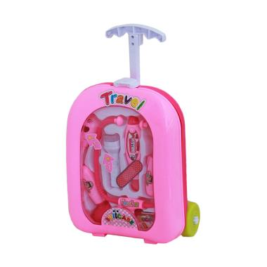 TME Doctor Suitcase Trolley Mainan  Pretend Play & Dress Up - Pink