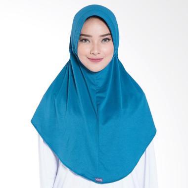 Elzatta Zaria Sahara NR Jilbab Instant - Blue Polos 505