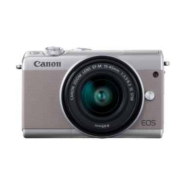 Canon EOS M100 Kit 15-45mm Kamera Mirrorless - Grey