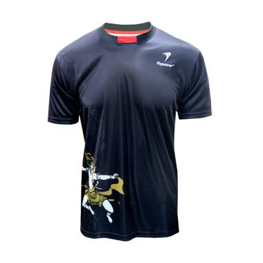 Flypower Lawu 2 Kaos Badminton - Black Red