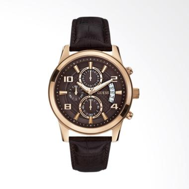 GUESS Chronograph Jam Tangan Pria - Brown [W0076G4]
