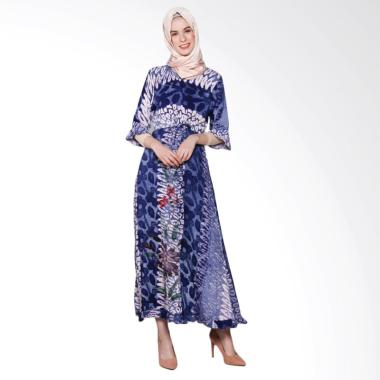 Jogja Batik Fairus Motif C Long Dress Muslim Wanita
