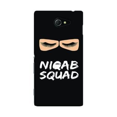 Premiumcaseid Hijab Jet Black Niqab ... Casing for Sony Xperia M2