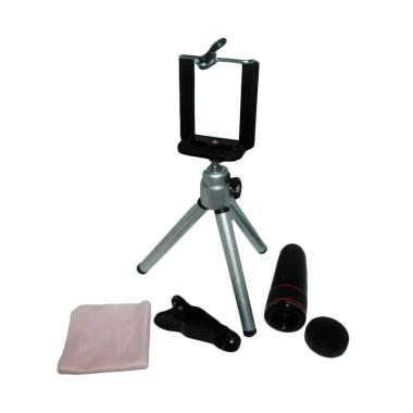 Universal 8x Telezoom Lens Clip for Mobile Phone with Tripod Holder