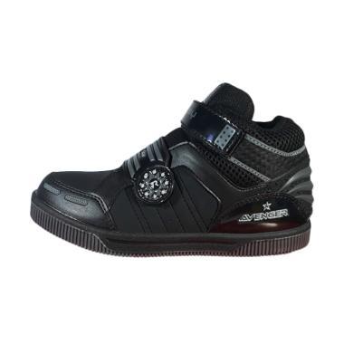 Sevenray Advenger Sepatu Anak Laki laki - Black