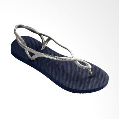 Havaianas Luna 0445 Sandal Flip Flop Wanita - Navy Blue Silver