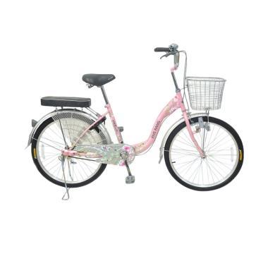 WIMCYCLE Vanilla City Bike Sepeda Wanita - Pink [26 Inch]