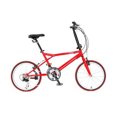 Sailfish Ferrari Hybrid Mini Velo Bike 21 Speed Sepeda - Red [20 Inch]
