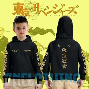 jaket anak hoodie sweater anak tokyo revengers touman M hitam
