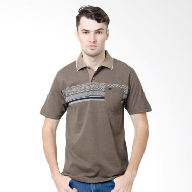 Arnett Polo Shirt Fashion Pria - Khaki