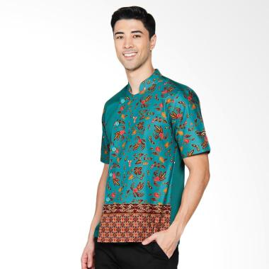 Chef Series Jade Batik Tangan Pendek Baju Koki - Hijau [Size M]