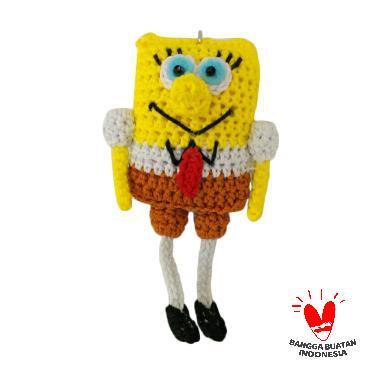 KEYNDA Boneka Rajut Karakter Spongebob Gantungan Kunci