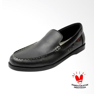Dr.Faris Footwear Moccasin Sepatu Loafers Pria - Hitam [001]