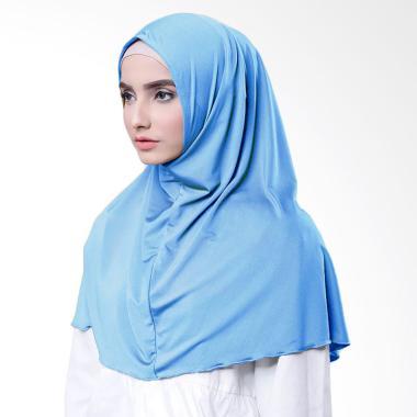 Najwa Hijab Kaos Katun TC Premium Jilbab Instan - Biru Muda