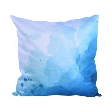 Olafur Vernon Cushion Bantal Sofa + Isi - Blue White [40 x 40 cm]