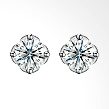 SOXY SH-E0091 New Fashion Simple Pe ... ing Silver Studs Earrings