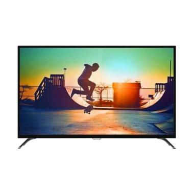 Philips 55PUT6002 4K Smart Android LED TV - Hitam [55 inch/DVB-T2]