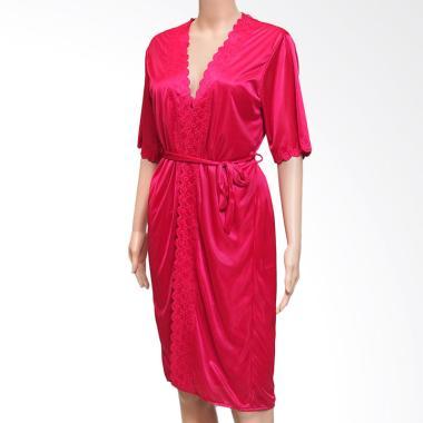Kimochi Me Lingerie RKIM080 Kimono Inner Outer Set Lingerie - Merah