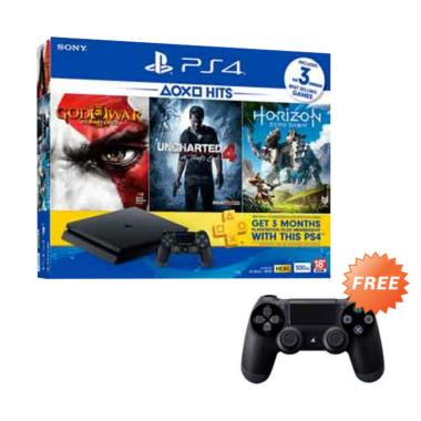 SONY Playstation 4 Slim (PS4) 500GB ... onesia + Extra 1 Joystick