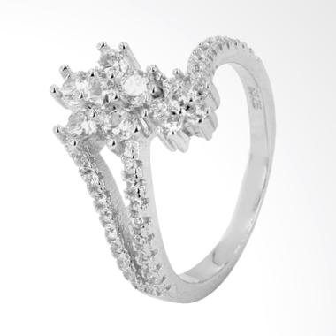 D'Paris SRS3005411 Double Flowers Ring