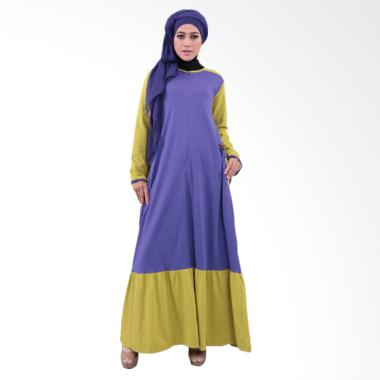 Qirani Melati 186 Dress Muslim Wanita - Ungu