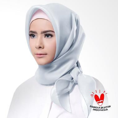 Cotton Bee Organza Square Hijab - Silver