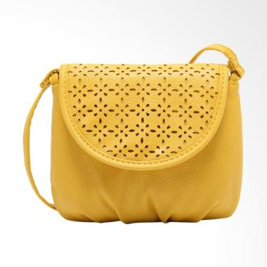 Lansdeal Leather Women Sling Bag - Yellow