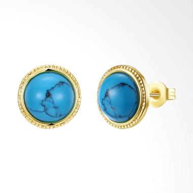 SOXY GEME006-A High-End Fashion Trend Earrings Ladies - Turquoise