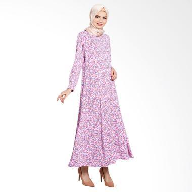 Elzatta Adra Hibiscus Gamis Muslim - Pink