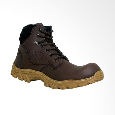 D-Island Shoes High Urban Safety Boots - Soft Brown