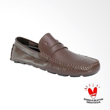 LISMEN Delta Moccasin Sepatu Kulit Pria - Brown [WJB-03]